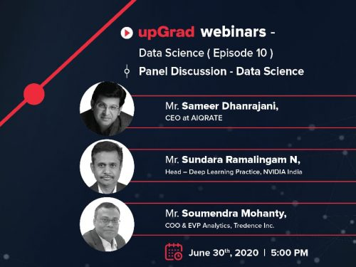 AIQRATE in upGrad's Elite Panel Discussion on Data Science