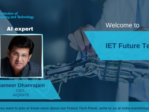 Sameer Dhanrajani in IET Future Tech Panel
