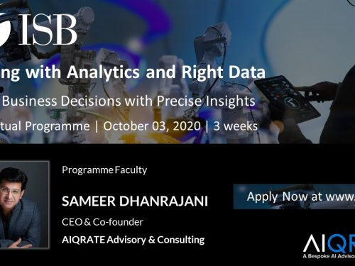 Live Virtual Program on Leading with Analytics & Right Data at ISB