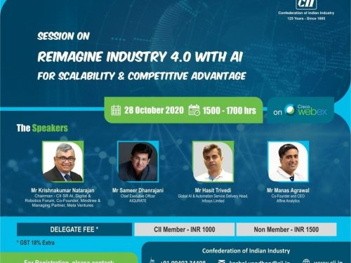 """Session on """"Reimagine Industry 4.0 with AI for Scalability & Competitive Advantage"""""""