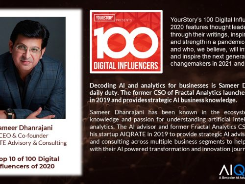 Sameer Dhanrajani in Top 10 of 100 Digital Influencers of 2020